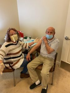 First resident receive COVID-19 Vaccine